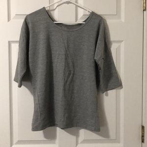 Maurice's Grey Top Lace Back